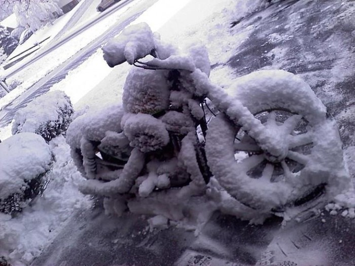 206509 10151217622585765 1040595991 n 700x525 FROZEN Motorcycle ice ice baby bike