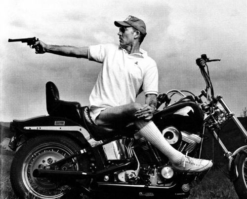 Hunter S Thompson Hunter S Thompson motorycle Hunter S Thompson Harley gun