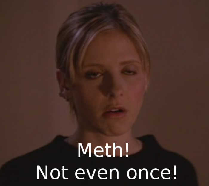smg on meth 700x621 Meth! Not even once! drugs