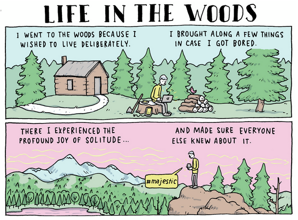 life in the woods Life in the woods Technology Nature Humor cartoon