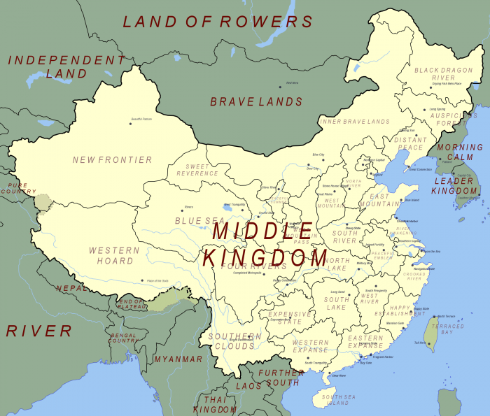 chinese placenames 700x595 Chinese placenames names maps interesting China asian asia
