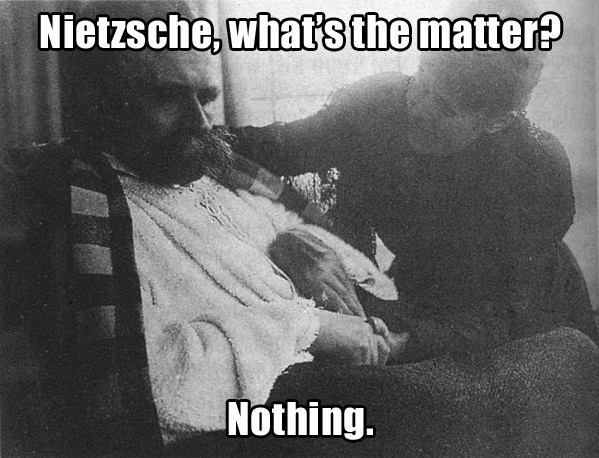 nietzsche nothing Nietzsches Nothing Philosophy nihilism Meme Humor divided by zero