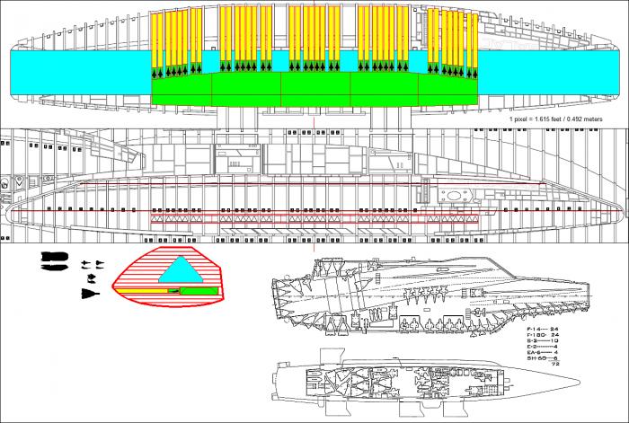 BigPod 700x471 Battlestar flight pod vs. Aircraft Carrier Weapons Television spaceships ship scifi Military interesting bsg aircraft