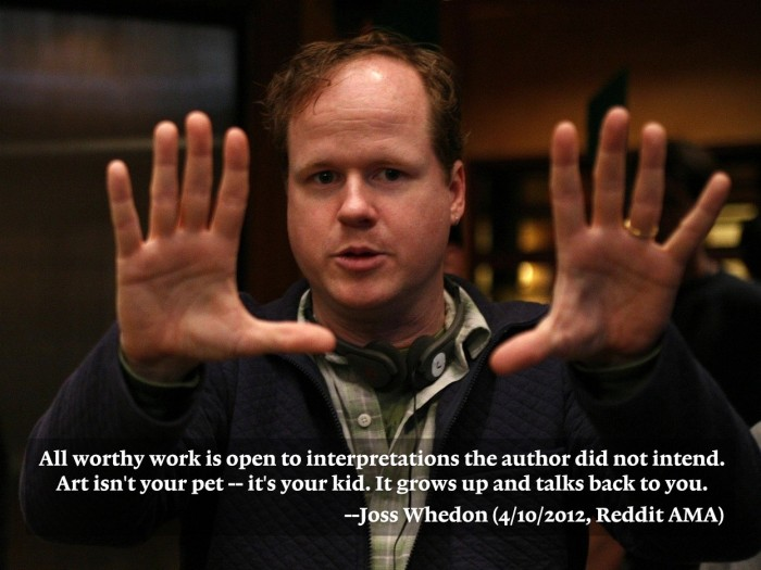Whedon – art is your kid