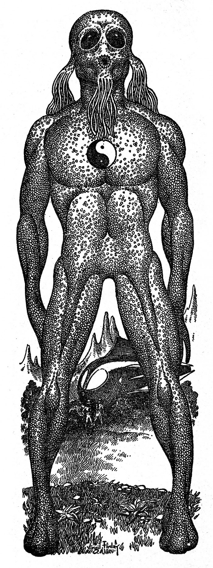 6080648980 b521d1dd6b o 700x1859 Virgil Finlay 1 wtf weird tales stippling scifi illustration horror fantasy Awesome Things Art animals