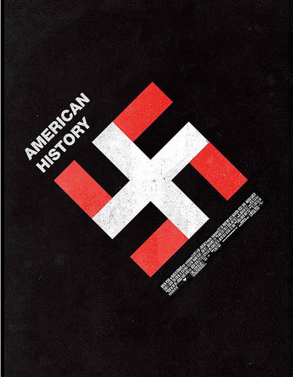 american history x American History + Visual Tricks swastika posters nazis Movies i see what you did there