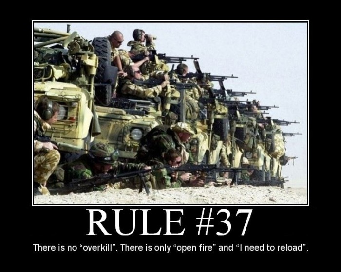 ff37 700x560 Demotivaors traffic power tie Motivational Posters lemmings firefight rule 37 concrete
