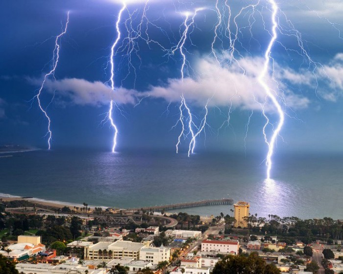 LONG EXPOSURE LIGHTNING STORM Photograph by Amery Carlson 700x560 Lightning Storm storm ocean Nature awesome