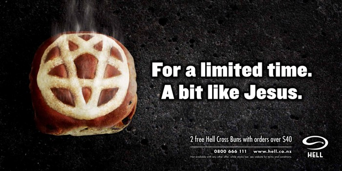 hell pizza hells cross buns 700x350 Pizza from Hell Food