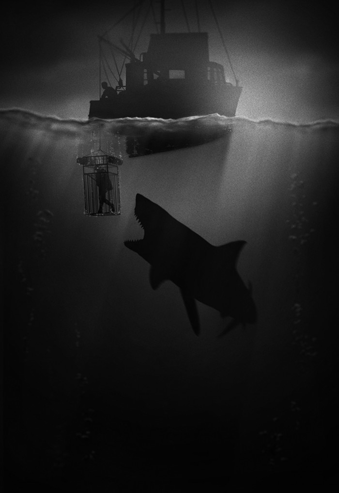 BWjaws 700x1016 B&W movie posters scifi posters Movies