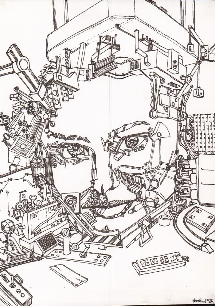IMG 0023 700x998 Machined sketch draw Art