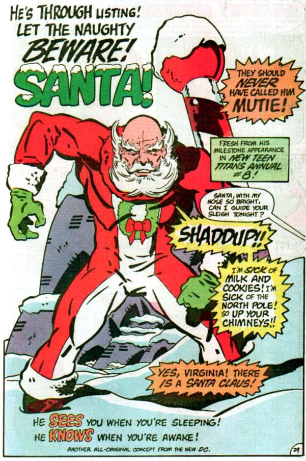 santa strikes Beware Santa Santa mutie angry