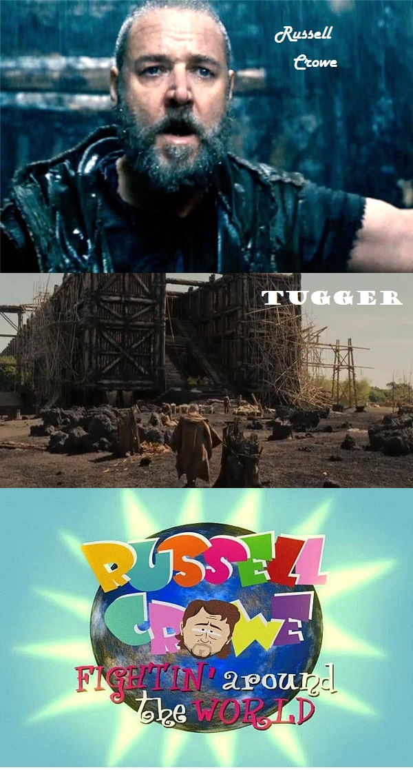 Russell Crowe noah trailer Russell and Tugger South Park Russell Crowe