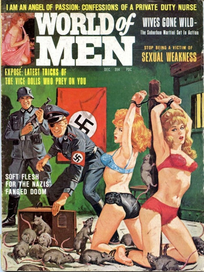 WORLD OF MEN Dec 1964. Cover Bruce Minney 8x6 700x934 Nazi Bastards painting not exactly safe for work nazi mens magazines Bruce Minney 1960s