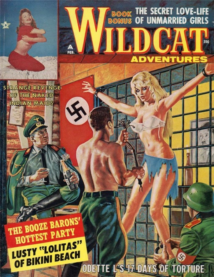 Wildcat Adventures February 1963 700x905 Nazi Bastards painting not exactly safe for work nazi mens magazines Bruce Minney 1960s