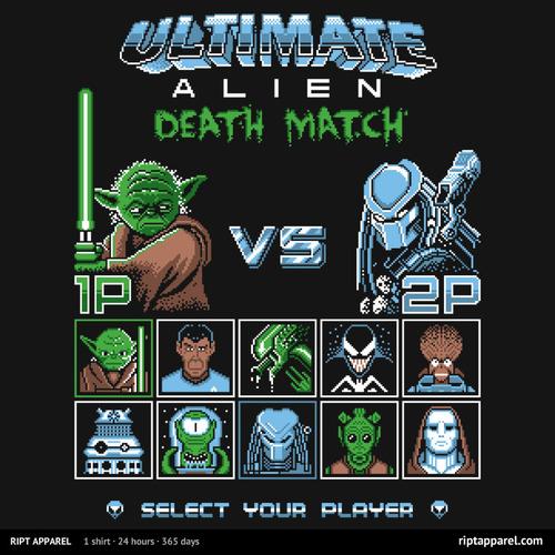 tumblr n0j9i2WDUj1qhmrtlo1 500 Ultimate Alien Death Match Video Games T shirt star wars predator mash up LV 426 graphics design aliens