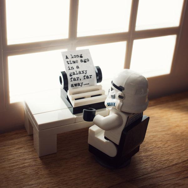 the saga begins by balakov d79jnao A long time ago... star wars Photography Legos Humor