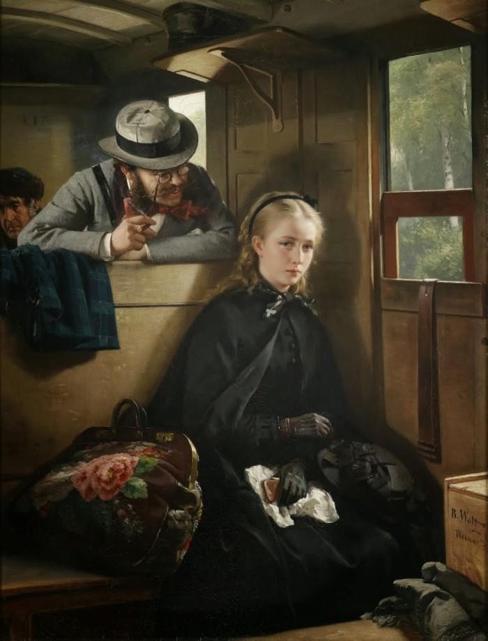 The Irritating Gentleman 1874 700x919 1874 paint Art