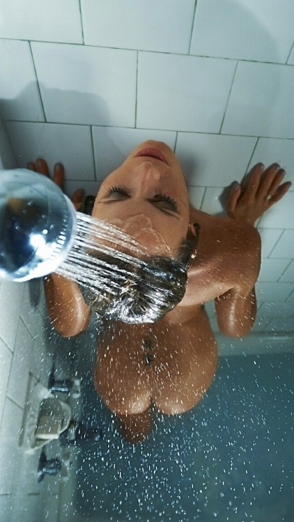 Hot naked women in the shower
