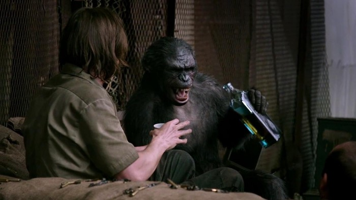 kobadrink 700x393 Drinkiepoos? never get an angry chimp drunk Matt Reeves Dawn of the Planet of the Apes