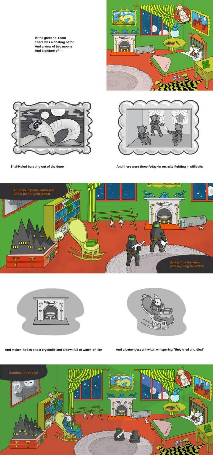 pz01 700x1494 Goodnight, Dune scifi Humor children Books