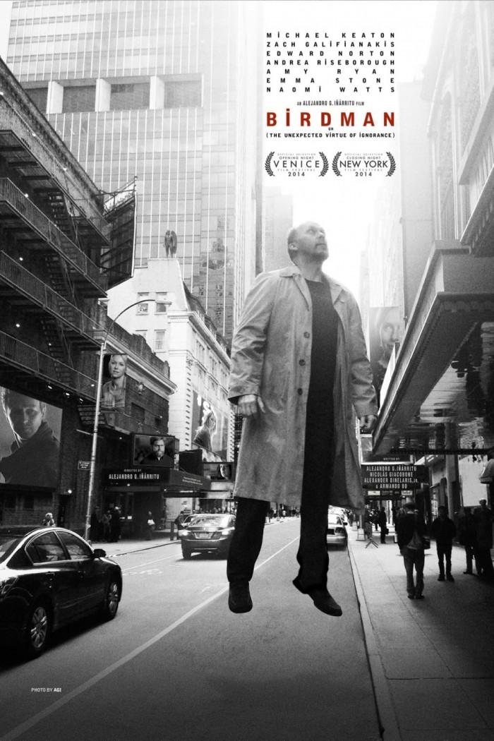 birdman ver2 xlg 700x1050 Birdman trailer movie poster Michael Keaton emma stone Birdman