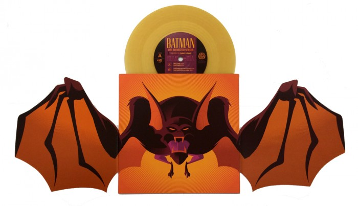 Man Bat Album 700x403 Mondos Batman: The Animated Series 7 inch records vinyl Danny Elfman
