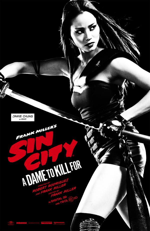 Miho Sin City A Dame to Kill For Sin City: A Dame to Kill For Sin City: A Dame to Kill For Robert Rodriguez poster movie Frank Miller