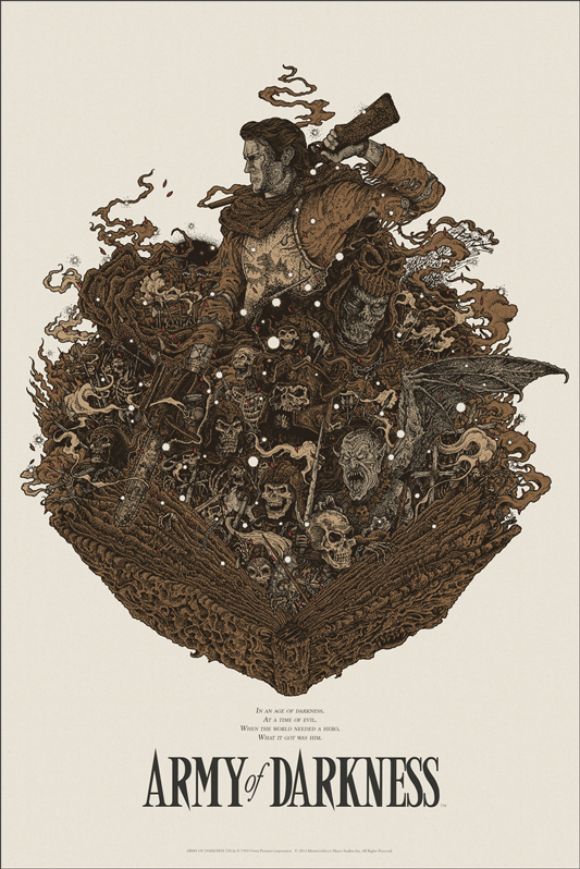 86133bfcba1b75abd6d0a00e 533x798 Mondos Army of Darkness poster poster Mondo illustration Art Army of Darkness