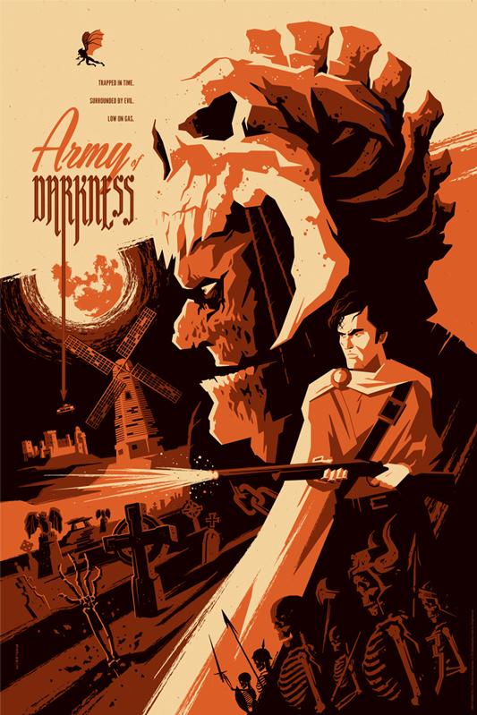 dc1d0d54a6428f1a23a8550a 533x799 Mondos Army of Darkness poster poster Mondo illustration Art Army of Darkness