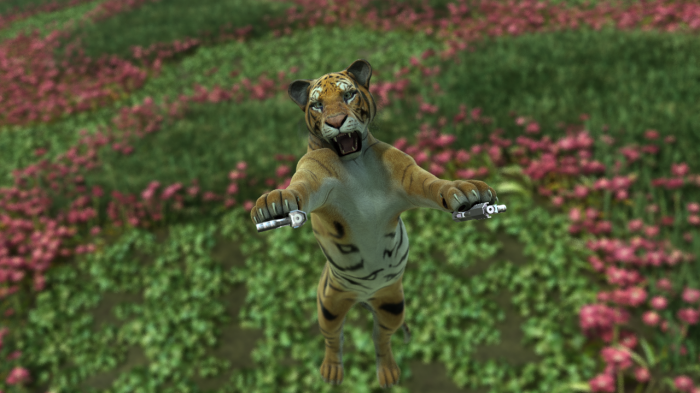 kittybangm130 700x393 Kitty Kitty Bang Bang tiger Humor 3d