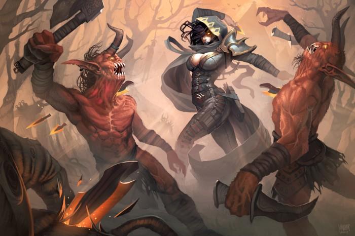 demon hunter by broken orange d488wkv 700x466 Demon hunter Demon hunter hunter Diablo videogames