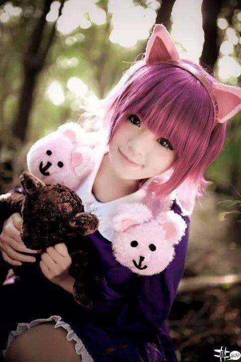 db15e4a263e878cb8cb9a08fc99496a4 Pink hair pink hair goth cute