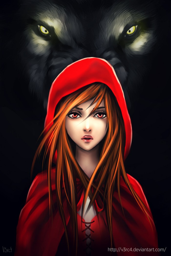 little red riding hood by v3rc4 d76dz3r 1 700x1050 Little Red Riding hood Fairy Tale little red riding hood wolf