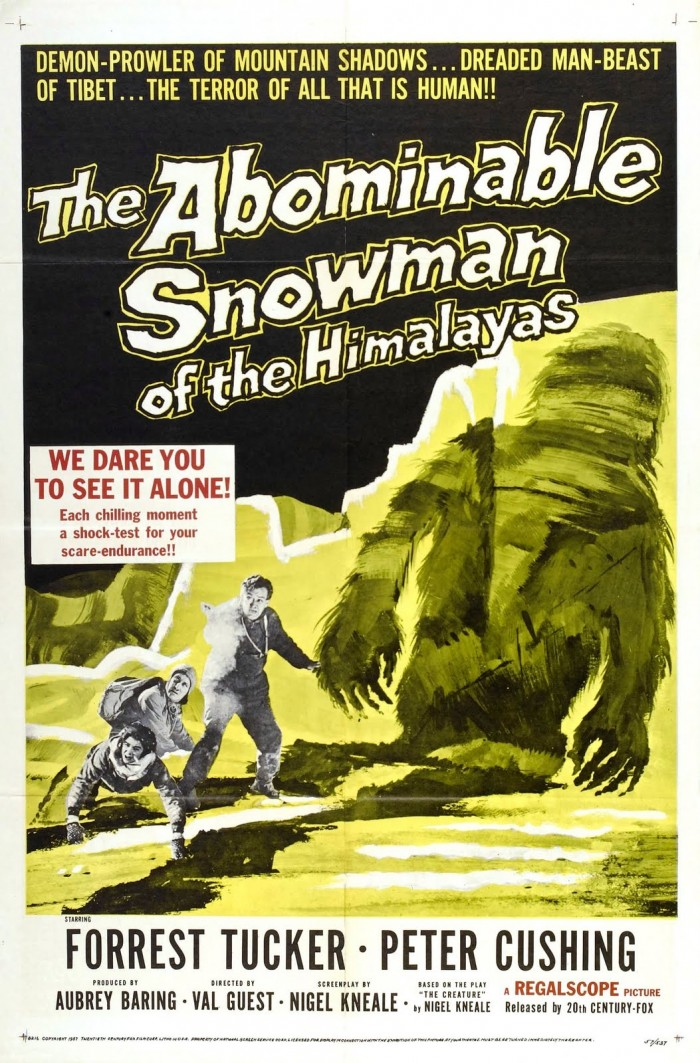 asnowman 700x1063 The Abominable Snowman (Of The Himalayas) Val Guest The Abominable Snowman Peter Cushing Nigel Kneale Hammer 1957