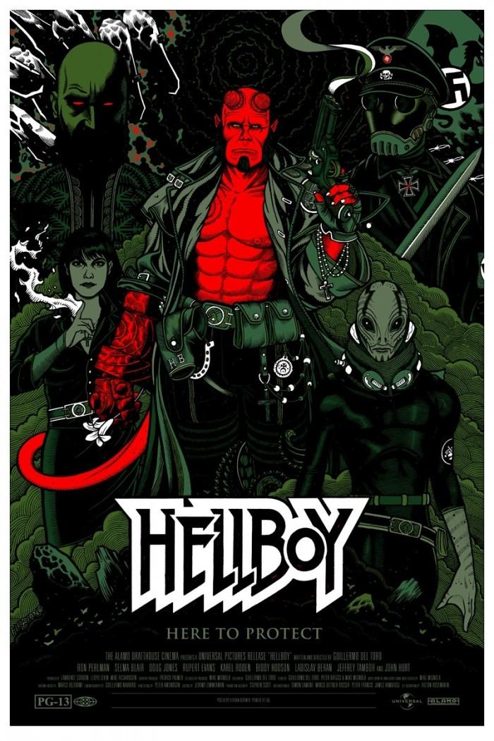 hellboy movie posters desktop 800x1200 hd wallpaper 1009912 700x1050 Hellboy  poster illustration hellboy Art