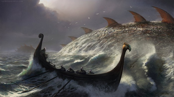 longboat 700x393 need a bigger longboat vikings Monsters fantasy Art