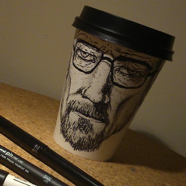 heisenburg 2 Heisenberg Coffee Art