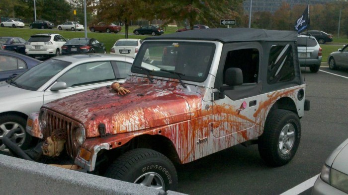 zomjeep 700x393 Cars for the Apocalypse Zombies Cars