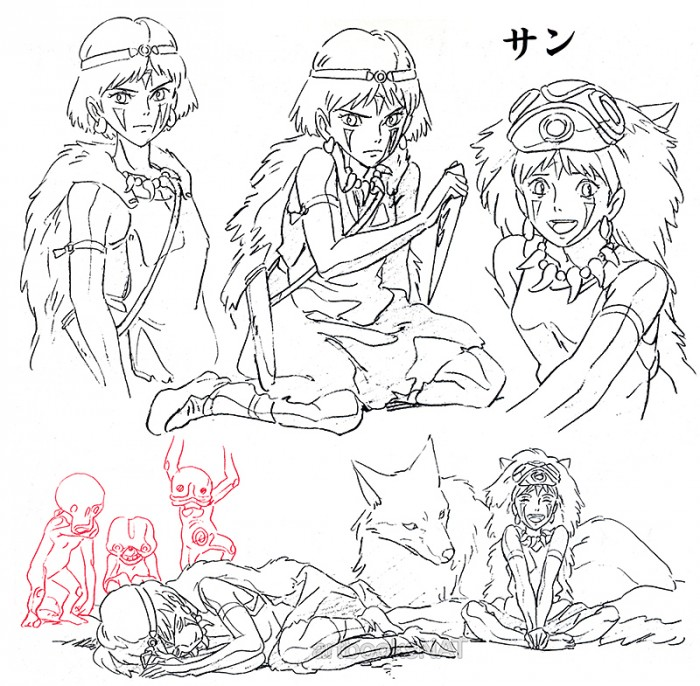tumblr ncfv8jEM3l1qmlmyuo1 1280 700x686 Princess Mononoke concept art princess mononoke illustration design concept art character design Art