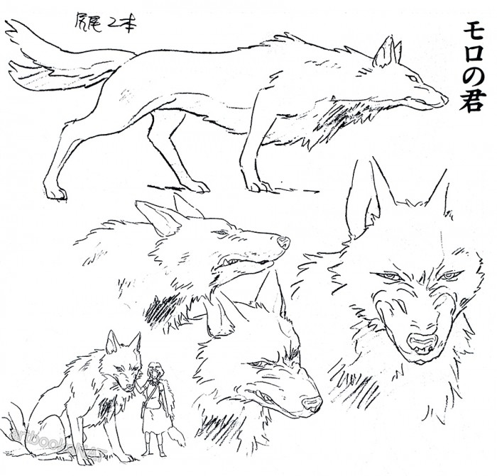 tumblr ncfv8jEM3l1qmlmyuo3 1280 700x671 Princess Mononoke concept art princess mononoke illustration design concept art character design Art
