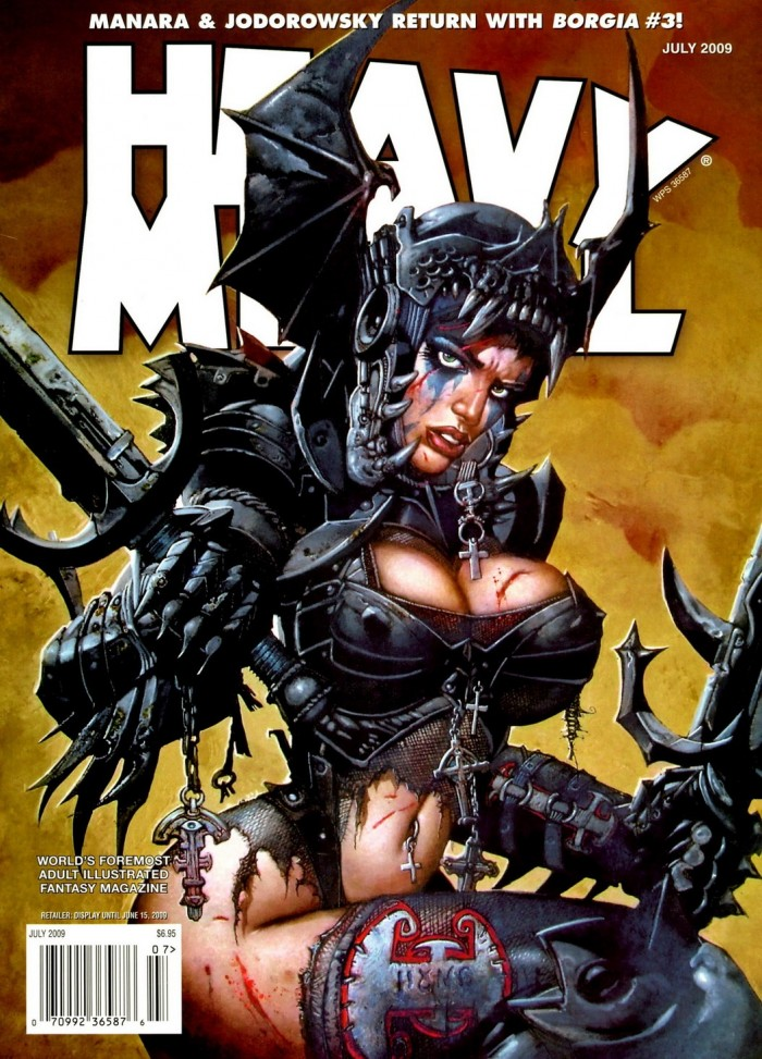 tumblr m56vi50VAx1rndes3o1 1280 700x973 Heavy Metal warrior babe women Simon Bisley Sexy scifi NeSFW magazines illustration