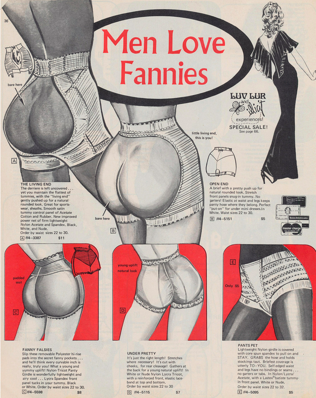 fannies Men Love Fannies wtf Vintage advertising nothing to do with halloween NeSFW