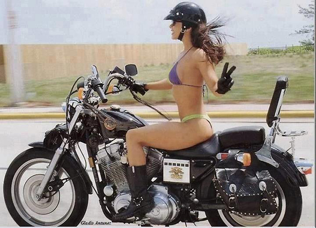 girl and motorcycle 009 01232014 Motorcycle wtf women vintage Sexy Photography not exactly safe for work NeSFW Motorcycle girl bikini bikes bike awesome interesting