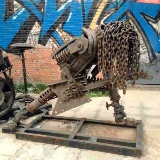 metal Heavy metal sculpture Music Metal