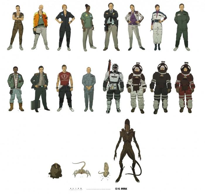 tumblr nfwn0tr0RT1qb4hb2o1 1280 700x662 Alien: Isolation character design  illustration character design Art Alien: Isolation