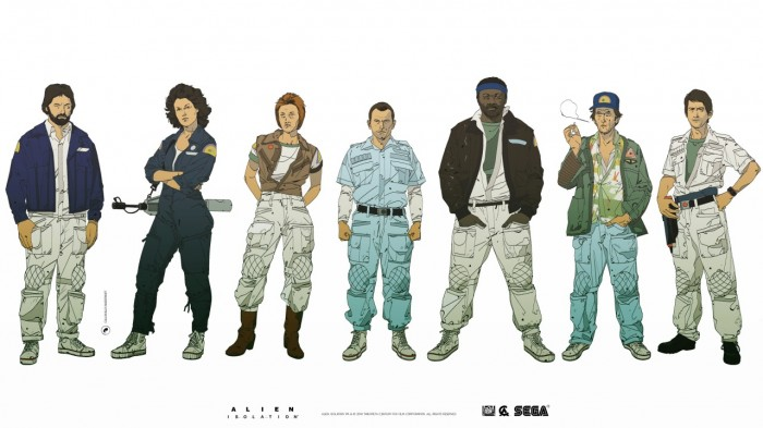 tumblr nfwn0tr0RT1qb4hb2o9 1280 700x393 Alien: Isolation character design  illustration character design Art Alien: Isolation