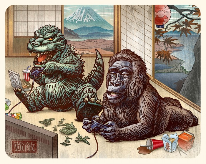 Guzu-Gallery-presents-Strange-Beasts-2-A-Tribute-to-the-King-Group-Art-Show-Boss-Battle-Godzilla-vs.-King-Kong-by-Chet-Phillips.jpg (334 KB)
