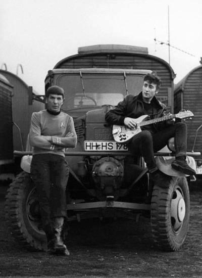 spock and lennon Spock and Lennon wtf The Beatles star trek Spock and Lennon awesome intereresting
