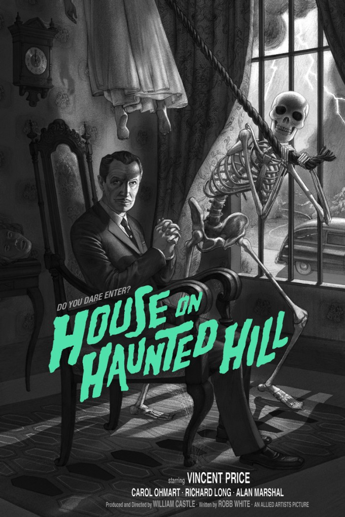 PjV5u4U 700x1050 House on Haunted Hill Mondo illustration House on Haunted Hill Art